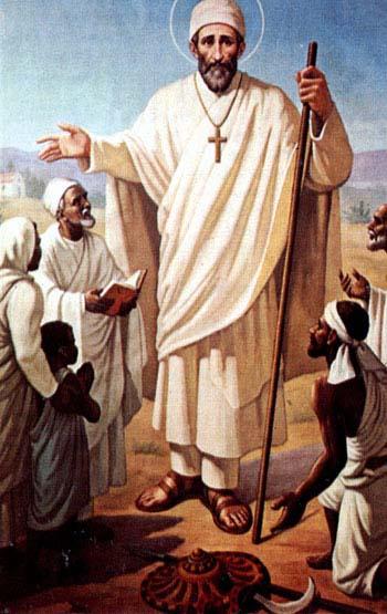 Aujourd'hui 31 juillet nous faisons mémoire du St Justin de Jacobis, Lazariste (1800-1860)